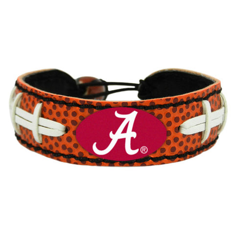 Alabama Crimson Tide A Logo Classic Football Bracelet