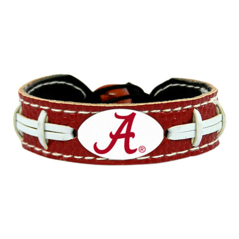 Alabama Crimson Tide A Logo Team Color Football Bracelet