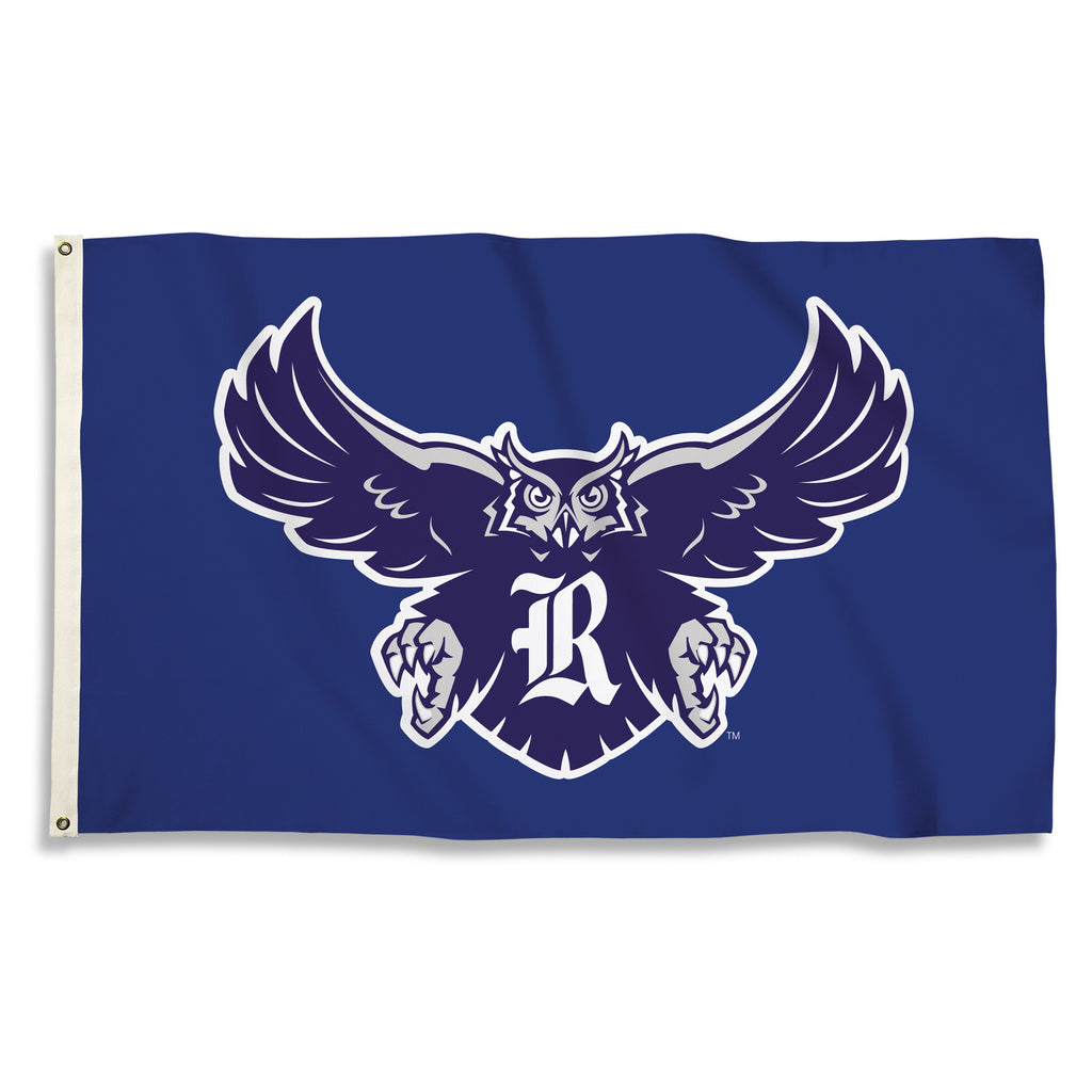 NCAA Officially licensed products Rice Owls 3 Ft. X 5 Ft. Flag W/Grommets Show everyone that you are a die-hard fan by hangi