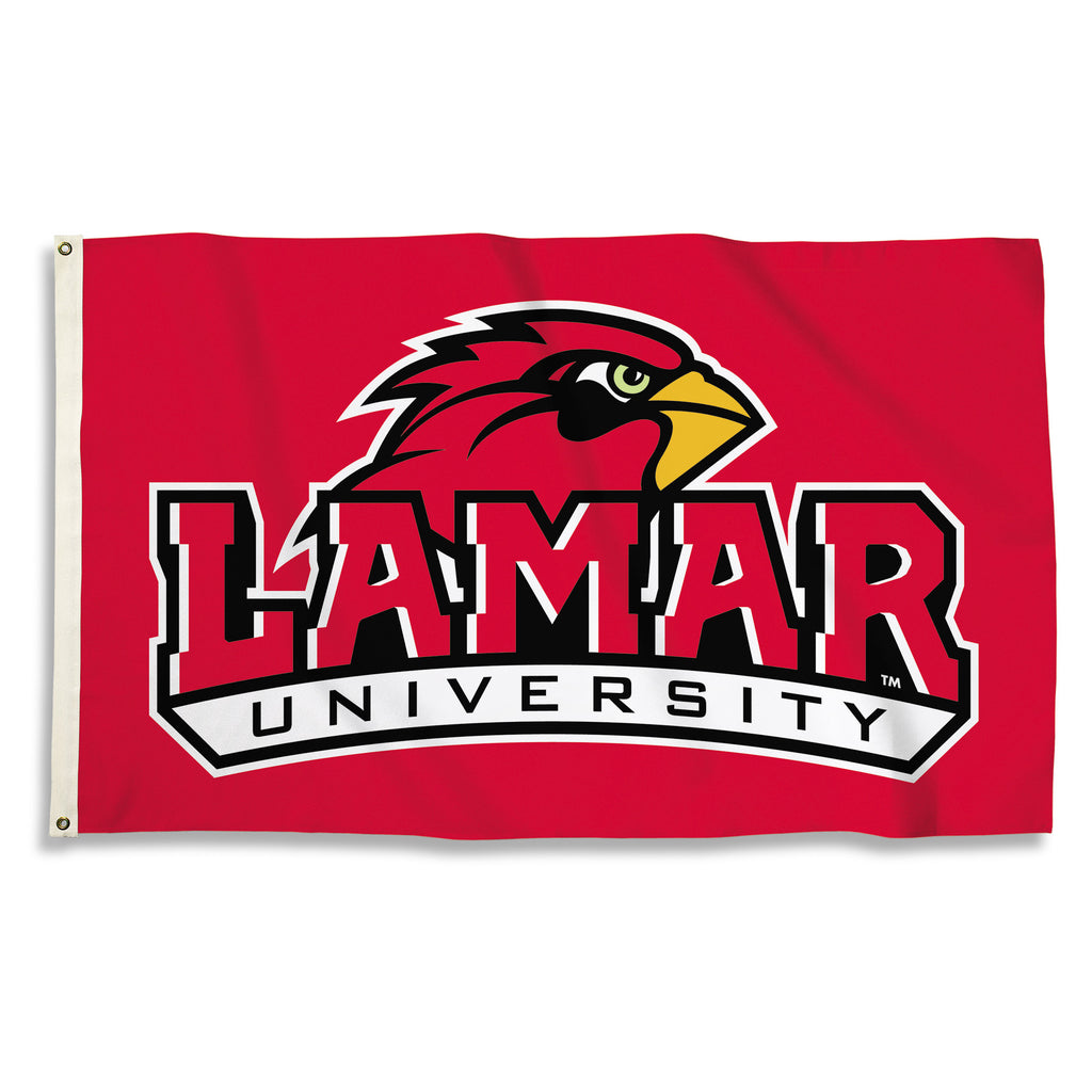 NCAA Officially licensed products Lamar Cardinals 3 Ft. X 5 Ft. Flag W/Grommets Show everyone that you are a die-hard fan by