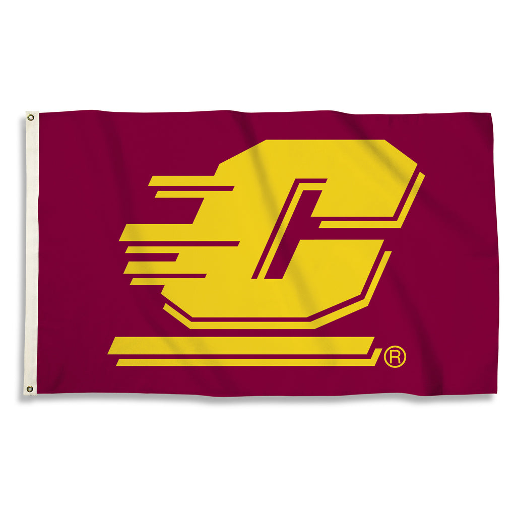 NCAA Officially licensed products Central Michigan Chippewas 3 Ft. X 5 Ft. Flag W/Grommets Show everyone that you are a die-
