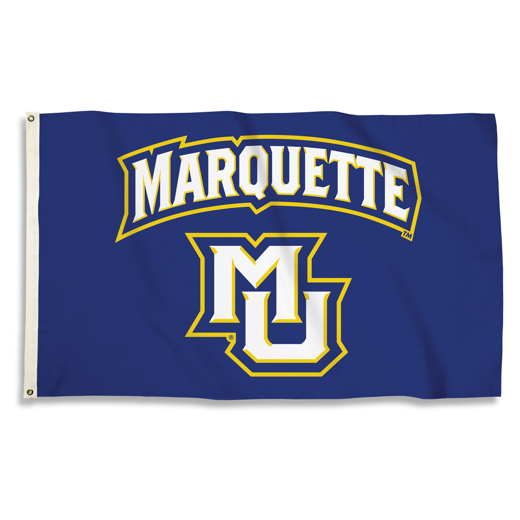 NCAA Officially licensed products Marquette Golden Eagles 3 Ft. X 5 Ft. Flag W/Grommets Show everyone that you are a die-har