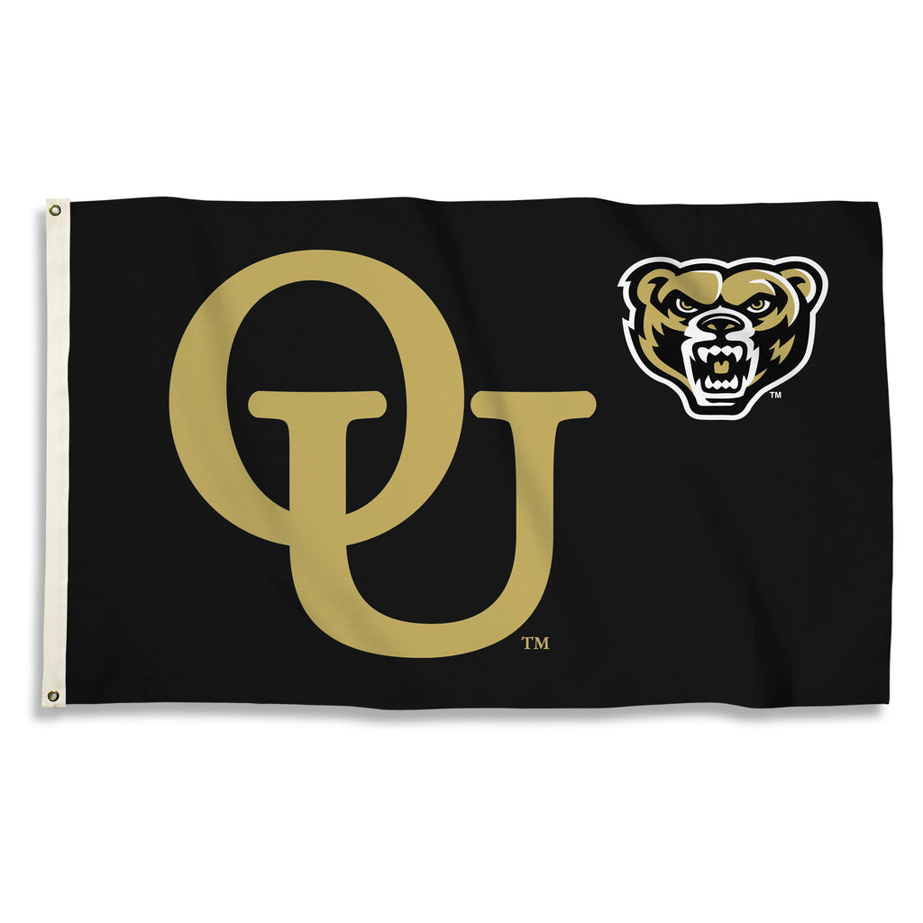 NCAA Officially licensed products Oakland Golden Grizzlies 3 Ft. X 5 Ft. Flag W/Grommets Show everyone that you are a die-ha