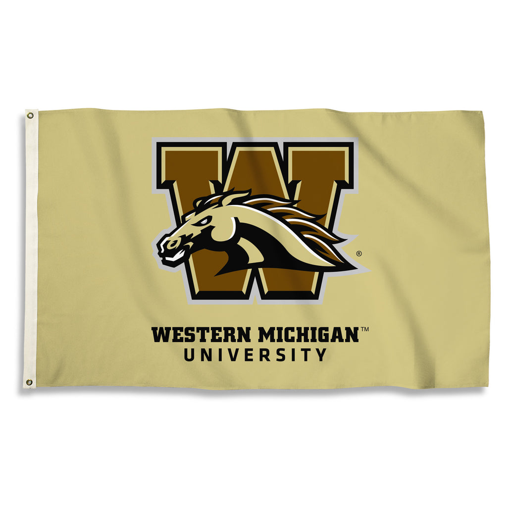 NCAA Officially licensed products Western Michigan Broncos 3 Ft. X 5 Ft. Flag W/Grommets Show everyone that you are a die-ha