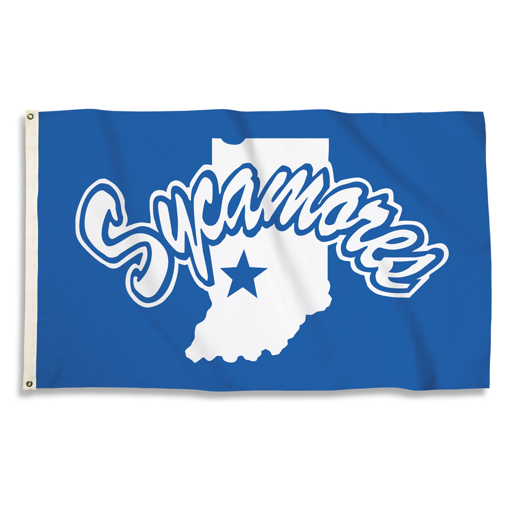 NCAA Officially licensed products Indiana State Sycamores 3 Ft. X 5 Ft. Flag W/Grommets Show everyone that you are a die-har