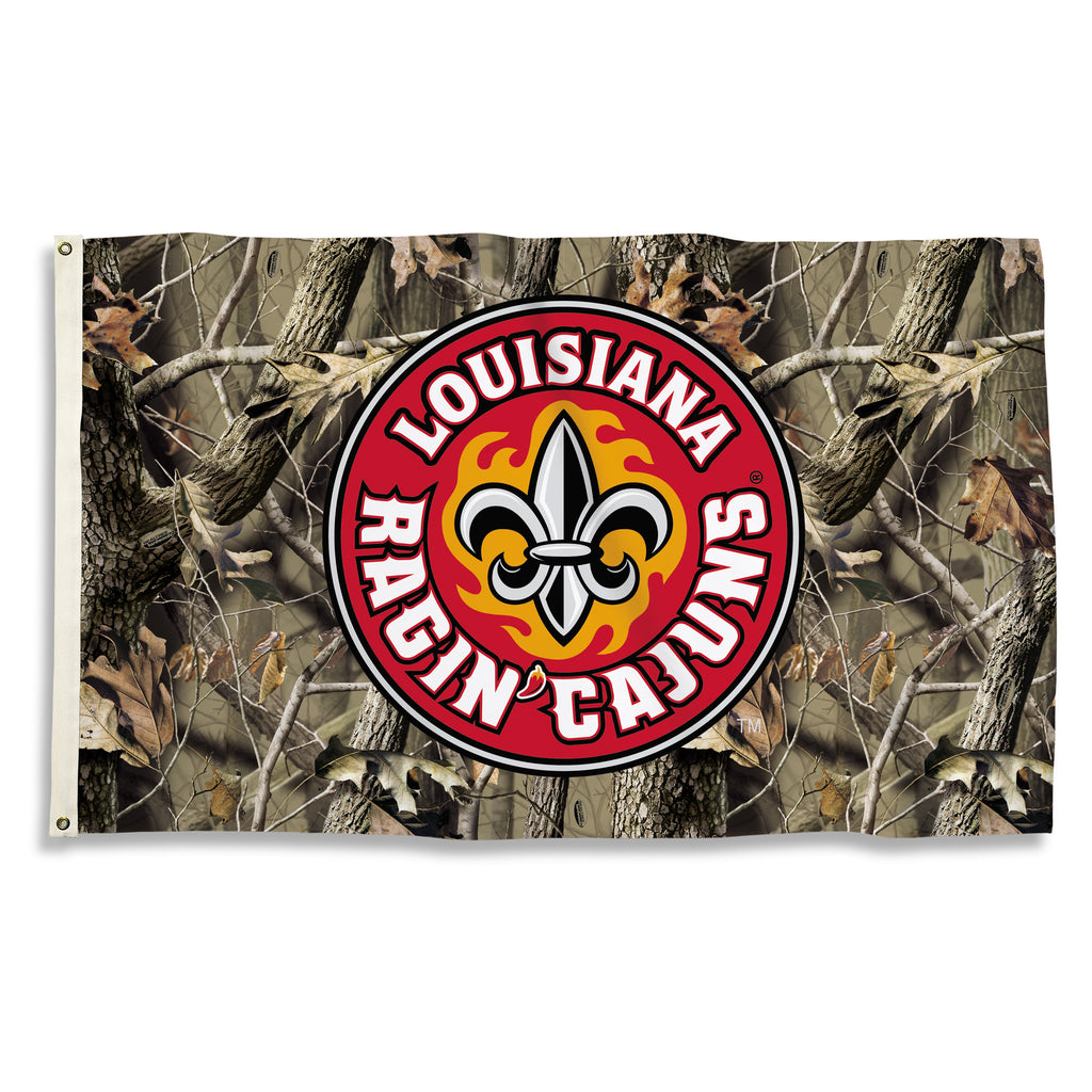 NCAA Officially licensed products LA Lafayette Rajin' Cajuns 3 Ft. X 5 Ft. Flag W/Grommets Show everyone that you are a die-