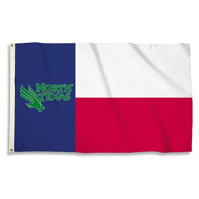 NCAA Officially licensed products North Texas Mean Green 3 Ft. X 5 Ft. Flag W/Grommets Show everyone that you are a die-hard