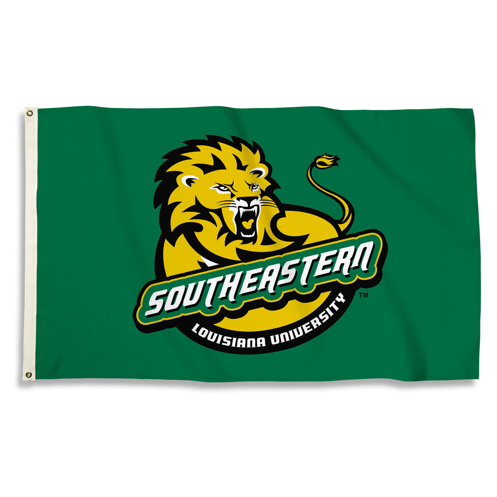 NCAA Officially licensed products SE Louisianna Lions 3 Ft. X 5 Ft. Flag W/Grommets Show everyone that you are a die-hard fa