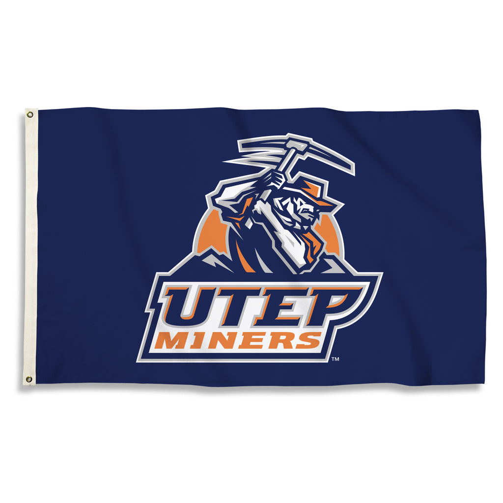 NCAA Officially licensed products Texas El Paso Miners 3 Ft. X 5 Ft. Flag W/Grommets Show everyone that you are a die-hard f
