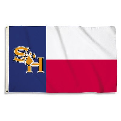 NCAA Officially licensed products Sam Houston St. Bearkats 3 Ft. X 5 Ft. Flag W/Grommets Show everyone that you are a die-ha
