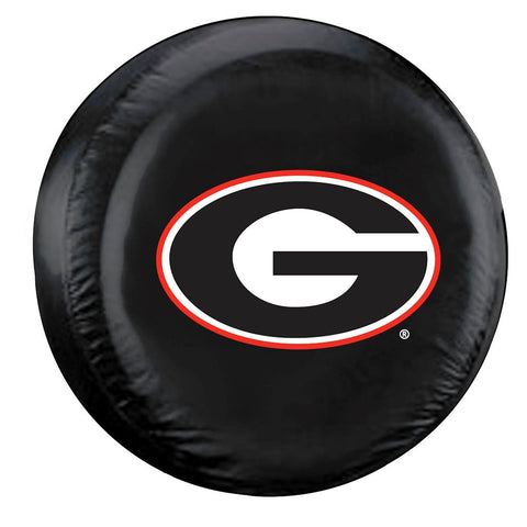 Georgia Bulldogs Black Tire Cover - Size Large