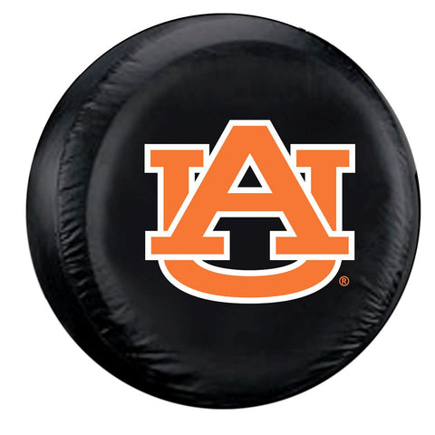 Auburn Tigers Black Tire Cover - Standard Size