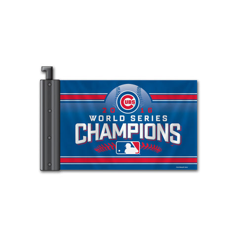 Chicago Cubs Antenna Flag 2016 World Series Champs