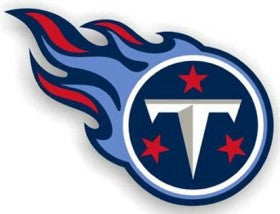 "Tennessee Titans 12"" Right Logo Car Magnet"