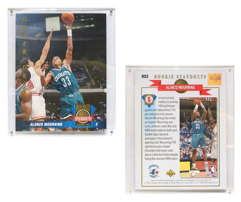 "Charlotte Hornets Alonzo Mourning 8""x10"" Upper Deck Blow-Up Card with Acrylic Display"