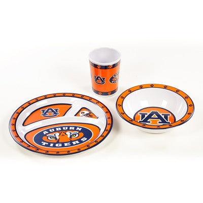 NCAA Officially licensed products Auburn Tigers Kid's 3 Pc. Dish Set This 3 piece heavy weight dish set is children and dish