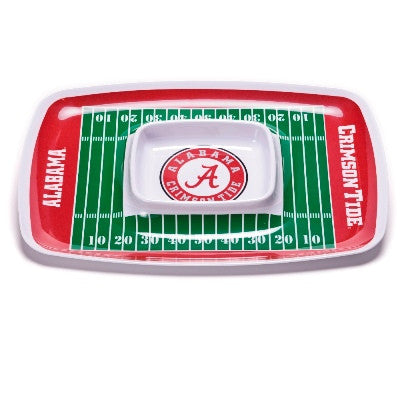 NCAA Officially licensed products Alabama Crimson Tide Chip & Dip Tray Show your team spirit with this durable melamine Chip