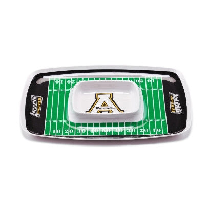 NCAA Officially licensed products Appalachian State Chip & Dip Tray Show your team spirit with this durable melamine Chip &