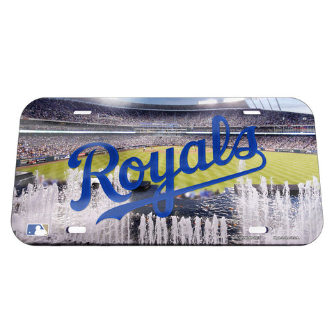 Kansas City Royals  License Plate - Crystal Mirror - Stadium