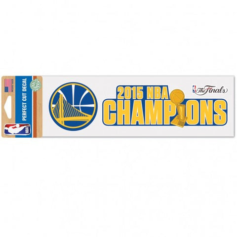 Golden State Warriors Decal 3x10 Perfect Cut Color 2015 Champs