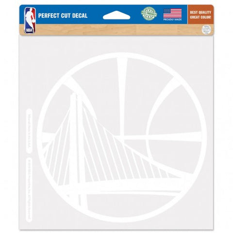 Golden State Warriors Decal 8x8 Die Cut White