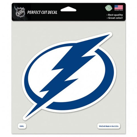 Tampa Bay Lightning Decal 8x8 Die Cut Color