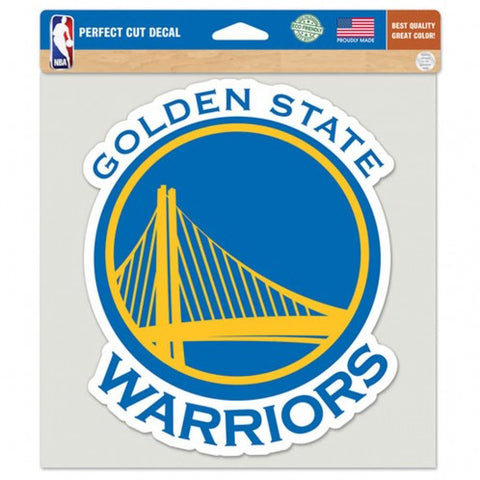 Golden State Warriors Decal 8x8 Die Cut Color