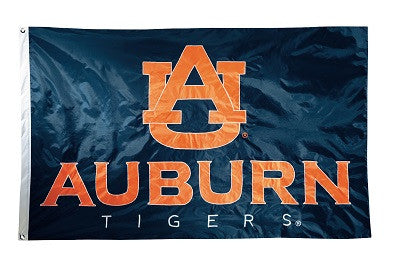 NCAA Officially licensed products Auburn Tigers 2-sided Nylon Applique 3 Ft x 5 Ft Flag w/ grommets This premium 2-sided 3 f