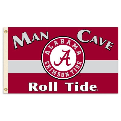NCAA Officially licensed products Alabama Crimson Tide Man Cave 3 Ft. X 5 Ft. Flag W/ 4 Grommets Show everyone that you are
