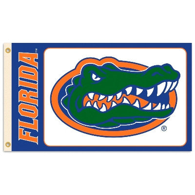 NCAA Officially licensed products Florida Gators 3 Ft. X 5 Ft. Flag W/Grommets Show everyone that you are a die-hard fan by