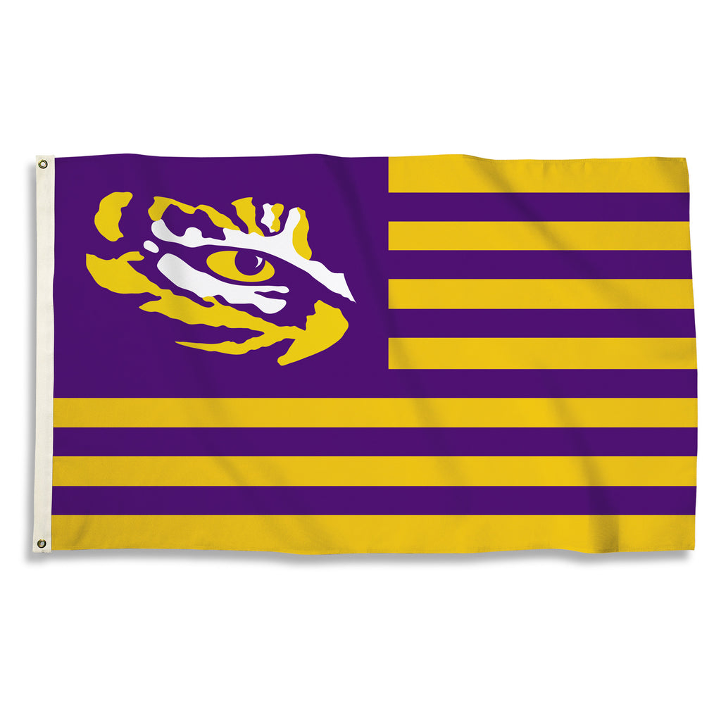 NCAA Officially licensed products LSU Tigers 3 Ft. X 5 Ft. Flag W/Grommets Show everyone that you are a die-hard fan by hang