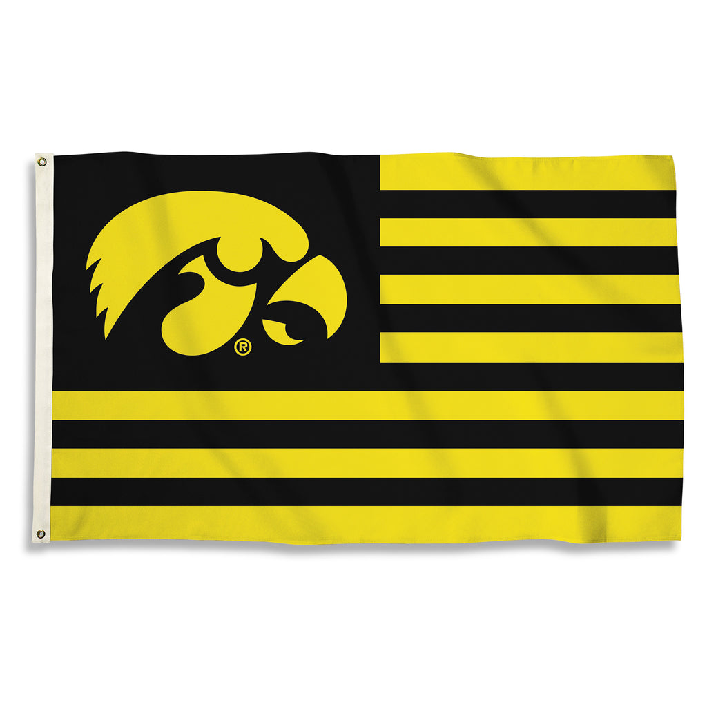 NCAA Officially licensed products Iowa Hawkeyes 3 Ft. X 5 Ft. Flag W/Grommets Show everyone that you are a die-hard fan by h
