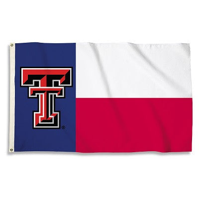NCAA Officially licensed products Texas Tech Red Raiders 3 Ft. X 5 Ft. Flag W/Grommets Show everyone that you are a die-hard