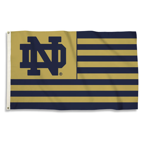 NCAA Officially licensed products Notre Dame  3 Ft. X 5 Ft. Flag W/Grommets Show everyone that you are a die-hard fan by han