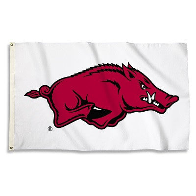 NCAA Officially licensed products Arkansas Razorbacks 3 Ft. X 5 Ft. Flag W/Grommets Show everyone that you are a die-hard fa