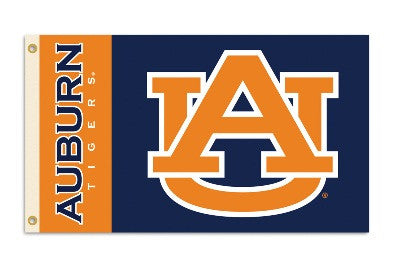 NCAA Officially licensed products Auburn Tigers 3 Ft. X 5 Ft. Flag W/Grommets Show everyone that you are a die-hard fan by h