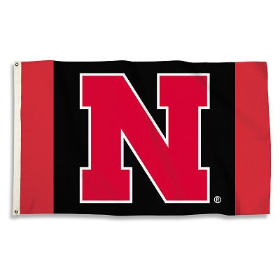 NCAA Officially licensed products Nebraska Cornhuskers 3 Ft. X 5 Ft. Flag W/Grommets Show everyone that you are a die-hard f