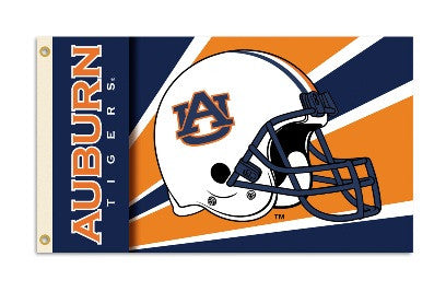 NCAA Officially licensed products Auburn Tigers 3 Ft. X 5 Ft. Flag W/Grommets - Helmet Design Show everyone that you are a d