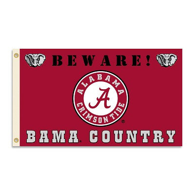 NCAA Officially licensed products Alabama Crimson Tide 3 Ft. X 5 Ft. Flag W/Grommets - Country Show everyone that you are a