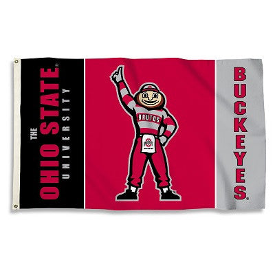 NCAA Officially licensed products Ohio State Buckeyes 3 Ft. X 5 Ft. Flag W/Grommets Show everyone that you are a die-hard fa
