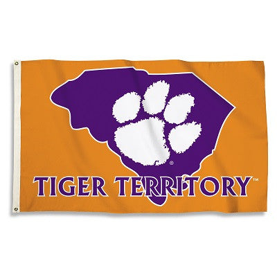 NCAA Officially licensed products Clemson Tigers 3 Ft. X 5 Ft. Flag W/Grommets Show everyone that you are a die-hard fan by