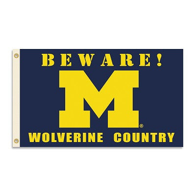 NCAA Officially licensed products Michigan Wolverines 3 Ft. X 5 Ft. Flag W/Grommets - Country Show everyone that you are a d