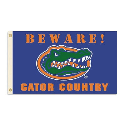 NCAA Officially licensed products Florida Gators 3 Ft. X 5 Ft. Flag W/Grommets - Country Show everyone that you are a die-ha