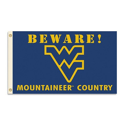 NCAA Officially licensed products West Virginia Mountaineers 3 Ft. X 5 Ft. Flag W/Grommets - Country Show everyone that you