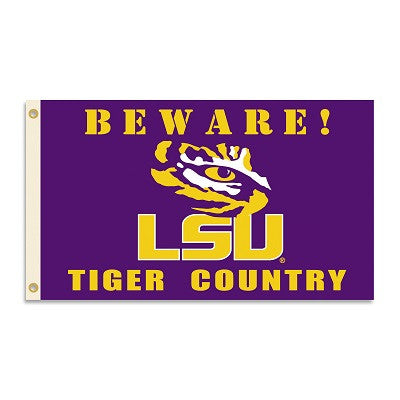 NCAA Officially licensed products LSU Tigers 3 Ft. X 5 Ft. Flag W/Grommets - Country Show everyone that you are a die-hard f