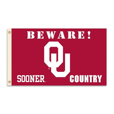 NCAA Officially licensed products Oklahoma Sooners 3 Ft. X 5 Ft. Flag W/Grommets - Country Show everyone that you are a die-