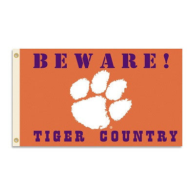 NCAA Officially licensed products Clemson Tigers 3 Ft. X 5 Ft. Flag W/Grommets - Country Show everyone that you are a die-ha