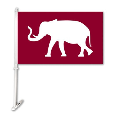 NCAA Officially licensed products Alabama Crimson Tide Car Flag W/Wall Brackett  Show your team spirit proudly with this  ca