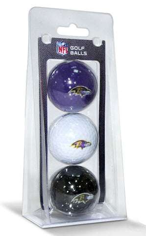 Baltimore Ravens 3 Pack of Golf Balls