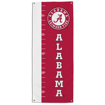 NCAA Officially licensed products Alabama Crimson Tide Growth Chart Banner This officially licensed growth chart is made of
